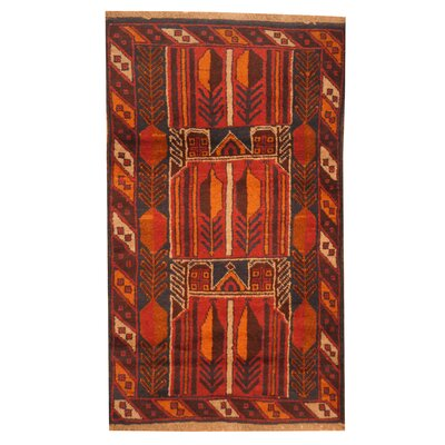 Barlowe Hand-Knotted Red/Orange Area Rug