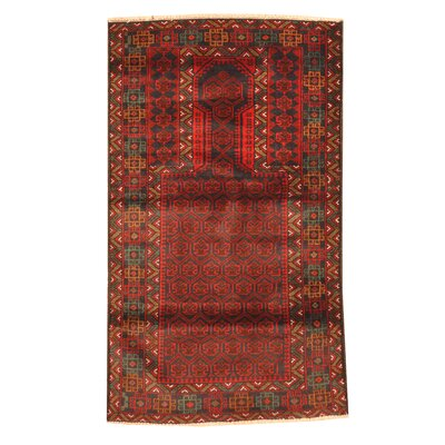 Balouchi Hand-Knotted Red Area Rug
