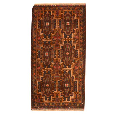 Balouchi Hand-Knotted Navy Area Rug