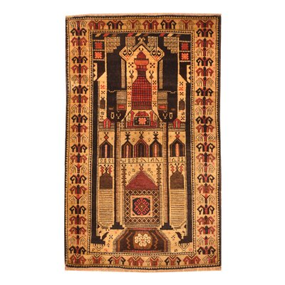 Balouchi Hand-Knotted Light Brown Area Rug
