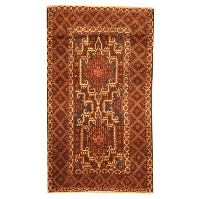 Barlowe Hand-Knotted Brown Area Rug