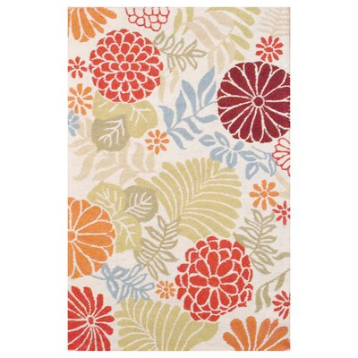Hand Tufted Wool Ivory/Olive Area Rug Rug Size: 4 x 6