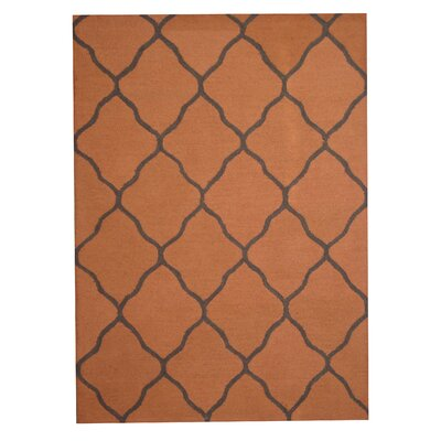 Hand-Tufted Rust/ Gray Indoor Area Rug