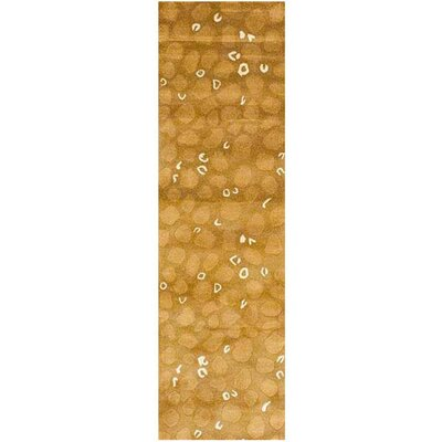 Hand-Tufted Green and Brown Area Rug Rug Size: Runner 26 x 8