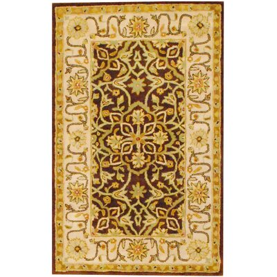 Hand-Tufted Brown and Ivory Area Rug Rug Size: 2 x 3
