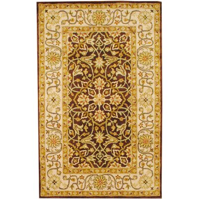 Hand-Tufted Brown and Ivory Area Rug Rug Size: 5 x 8
