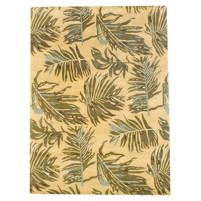 Hand-Tufted Yellow/Brown Area Rug Rug Size: Rectangle 8 x 11