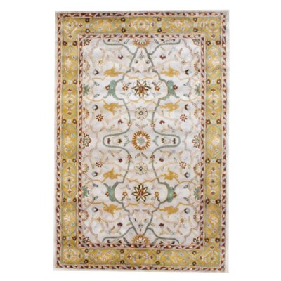 Hand-Tufted Beige/Gold Area Rug