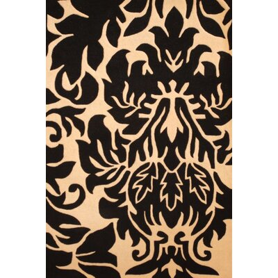 Hand-Tufted Black/Ivory Area Rug