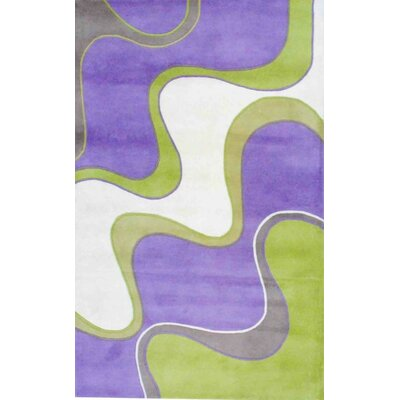 Hand-Tufted Lavender/Green Area Rug