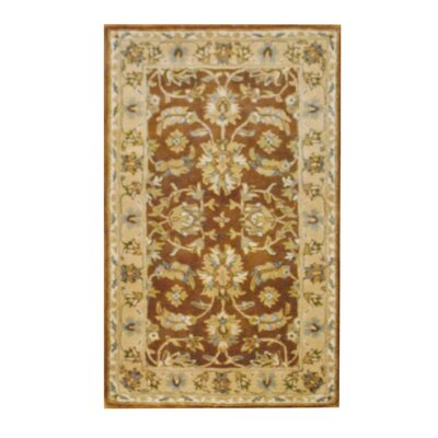 Hand-Tufted Brown/Beige Area Rug Rug Size: Rectangle 33 x 53