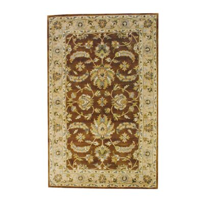 Hand-Tufted Brown/Beige Area Rug Rug Size: 5' x 8'