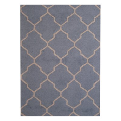 Hand-Tufted Light Blue/Beige Indoor Area Rug Rug Size: 5 x 7