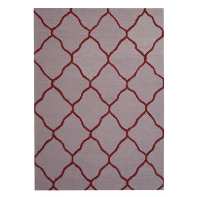 Hand-Tufted Beige/Red Indoor Area Rug