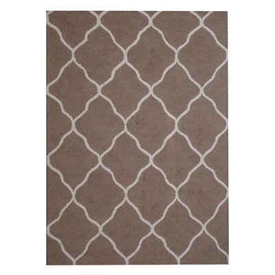 Hand-Tufted Brown/Beige Indoor Area Rug