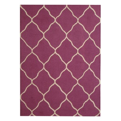 Hand-Tufted Purple/Beige Indoor Area Rug