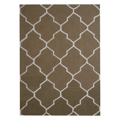 Hand-Tufted Green/Ivory Indoor Area Rug