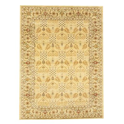 Hand-Tufted Gold and Ivory Area Rug