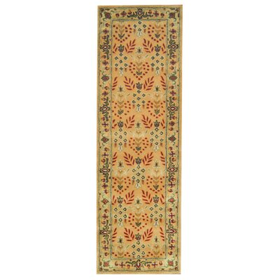 Hand-Tufted Ivory and Green Area Rug