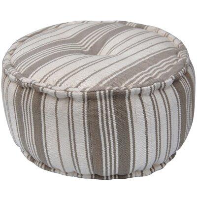 Handmade Pouf Upholstery: White/ Beige
