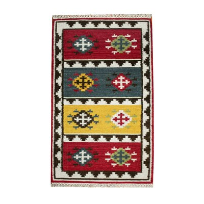 Hand-Woven Gray Area Rug Rug Size: Runner 24 x 82