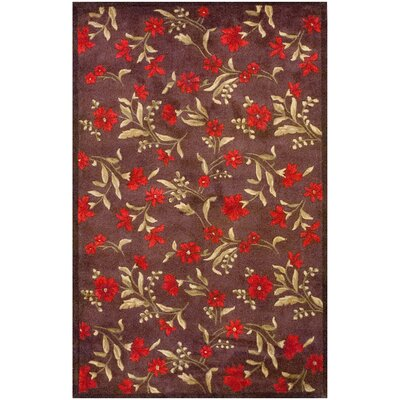 Dark Brown Area Rug Rug Size: 77 x 49