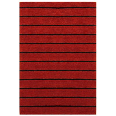 Red Area Rug Rug Size: 66 x 48