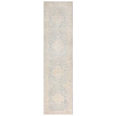 Vegetable Dye Hand-Knotted Gray Area Rug