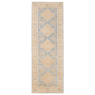 Vegetable Dye Hand-Knotted Blue Area Rug