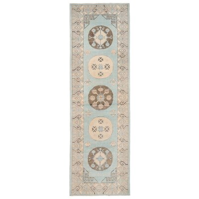 Vegetable Dye Hand-Knotted Light Blue Area Rug