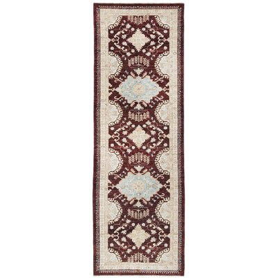 Vegetable Dye Hand-Knotted Brown Area Rug