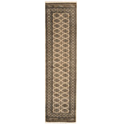 Bokhara Hand-Knotted Beige/Black Area Rug