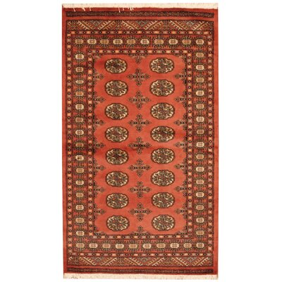 Bokhara Hand-Knotted Peach/Ivory Area Rug