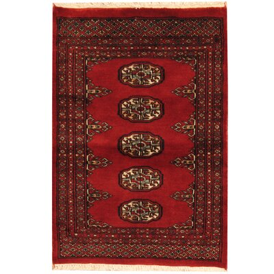 Bokhara Hand-Knotted Red/Ivory Area Rug