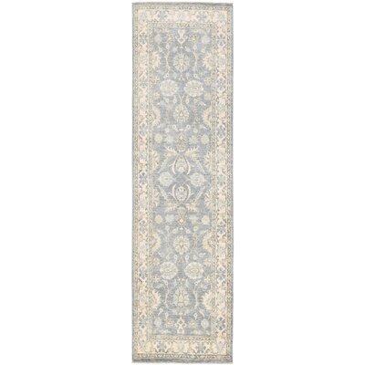 Vegetable Dye Hand-Knotted Gray/Ivory Area Rug