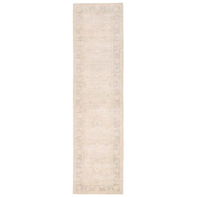 Vegetable Dye Hand-Knotted Ivory/Brown Area Rug