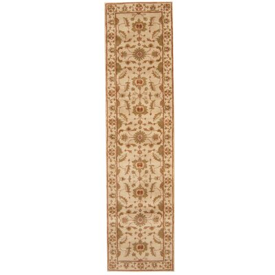 Hand-tufted Beige/ Green Area Rug