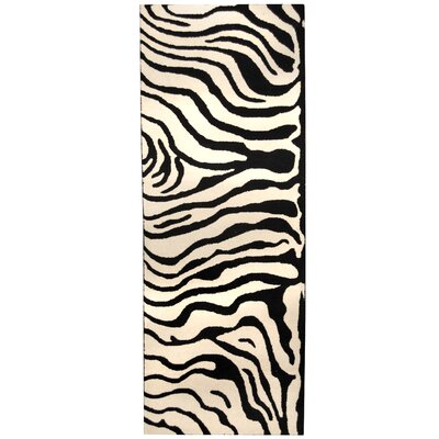 Hand-tufted Ivory/Black Area Rug