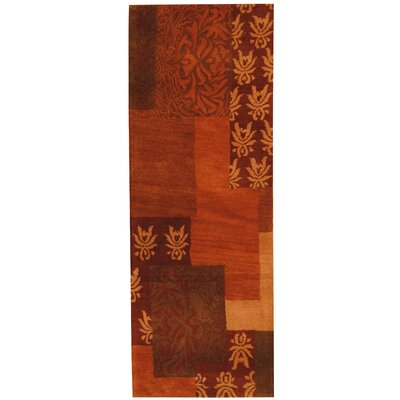 Hand-tufted Rust/Red Area Rug