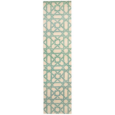 Hand-tufted Ivory/Teal Area Rug