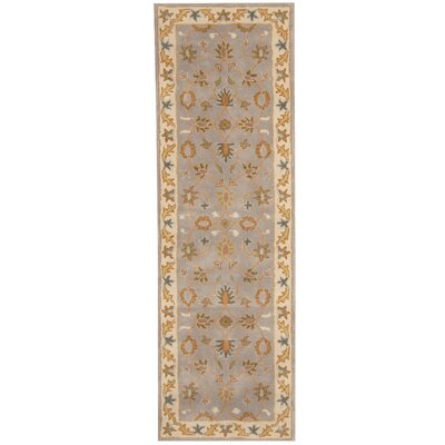 Hand-tufted Mahal Gray/ Beige Wool Runner