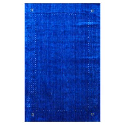 Hand-loomed Gabbeh Blue/ Green Wool Rug