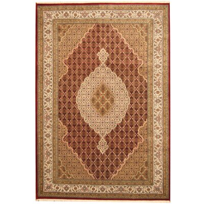 Tabriz Hand-Knotted Red/Ivory Area Rug