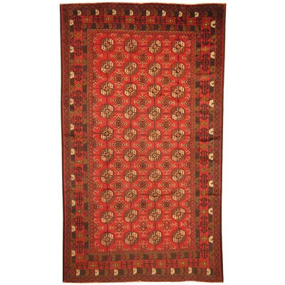 Barlowe Hand-Knotted Red Area Rug