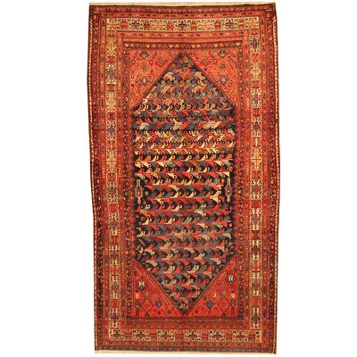 Persian Tribal Malayer Hand-Knotted Red/Gold Area Rug