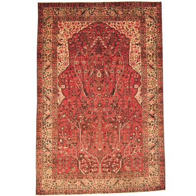 Persian Bakhtiari Hand-Knotted Red/ Beige Area Rug