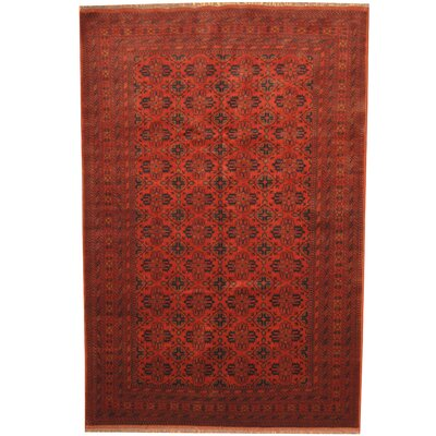 Khal Mohammad Hand-Knotted Burgundy/Navy Area Rug