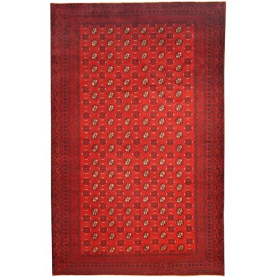 Hand-Knotted Burgundy/Navy Area Rug
