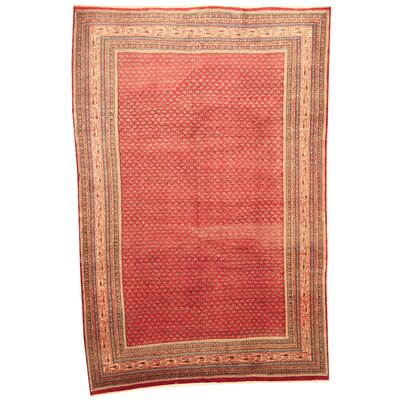 Persian Tribal Mir Hand-Knotted Red/Ivory Area Rug