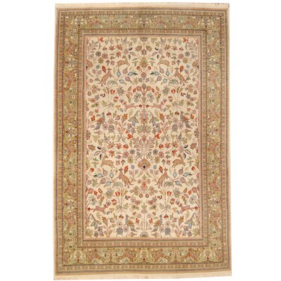 Persian Tribal Hamadan Hand-Knotted Red/Ivory Area Rug